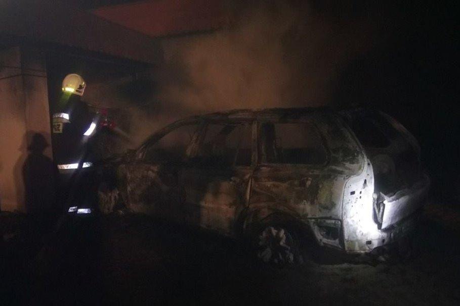 spalony samochód - osp ksrg koronowo 3