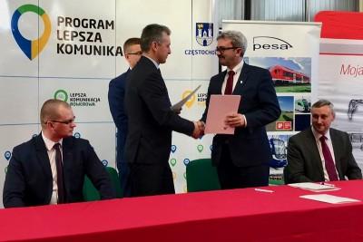 Pesa_MPK Częstochowa_podpisanie umowy_tramwaje_nadesłane