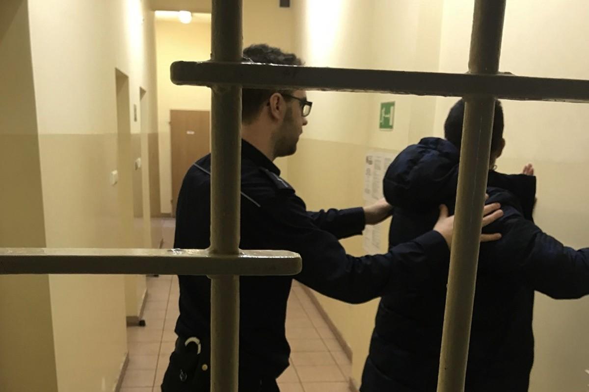 Zatrzymany podejrzany_narkotyki_KPP Nakło