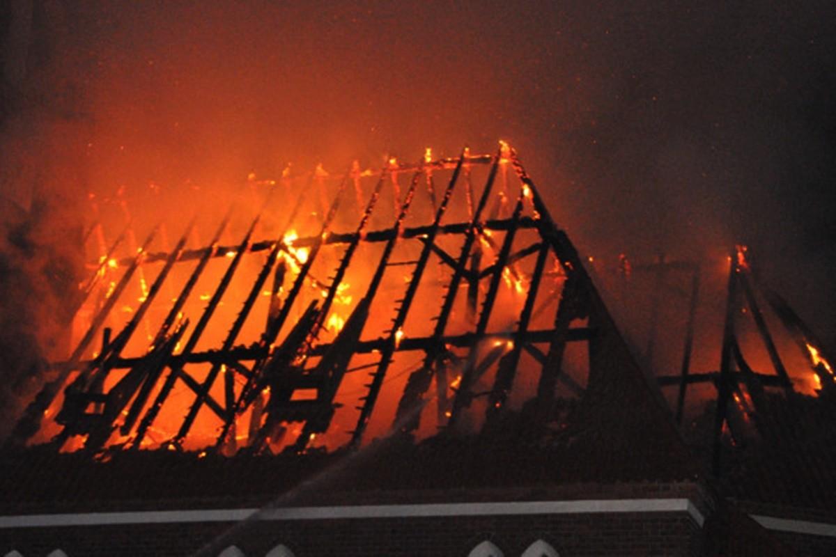 pożar kościoła_ciężkowo-Maciej Rejment