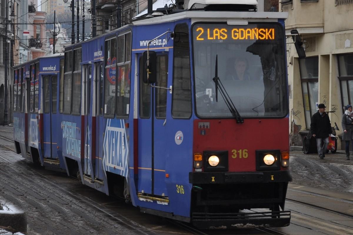 tramwaj, linia 2, las gdański, gdańska - st
