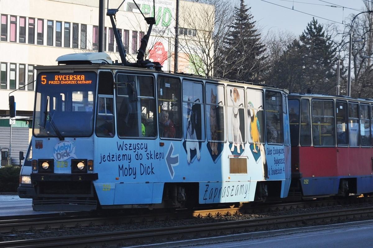 tramwaj, linia 5, rycerska, jagiellońska - st