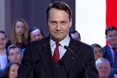 radosław sikorski - screen z nagrania platformy