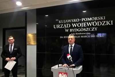 Mikołaj Bogdanowicz, Adrian Mól - konferencja prasowa K-PUW_SF1