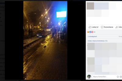 samochód na torach, screen fb
