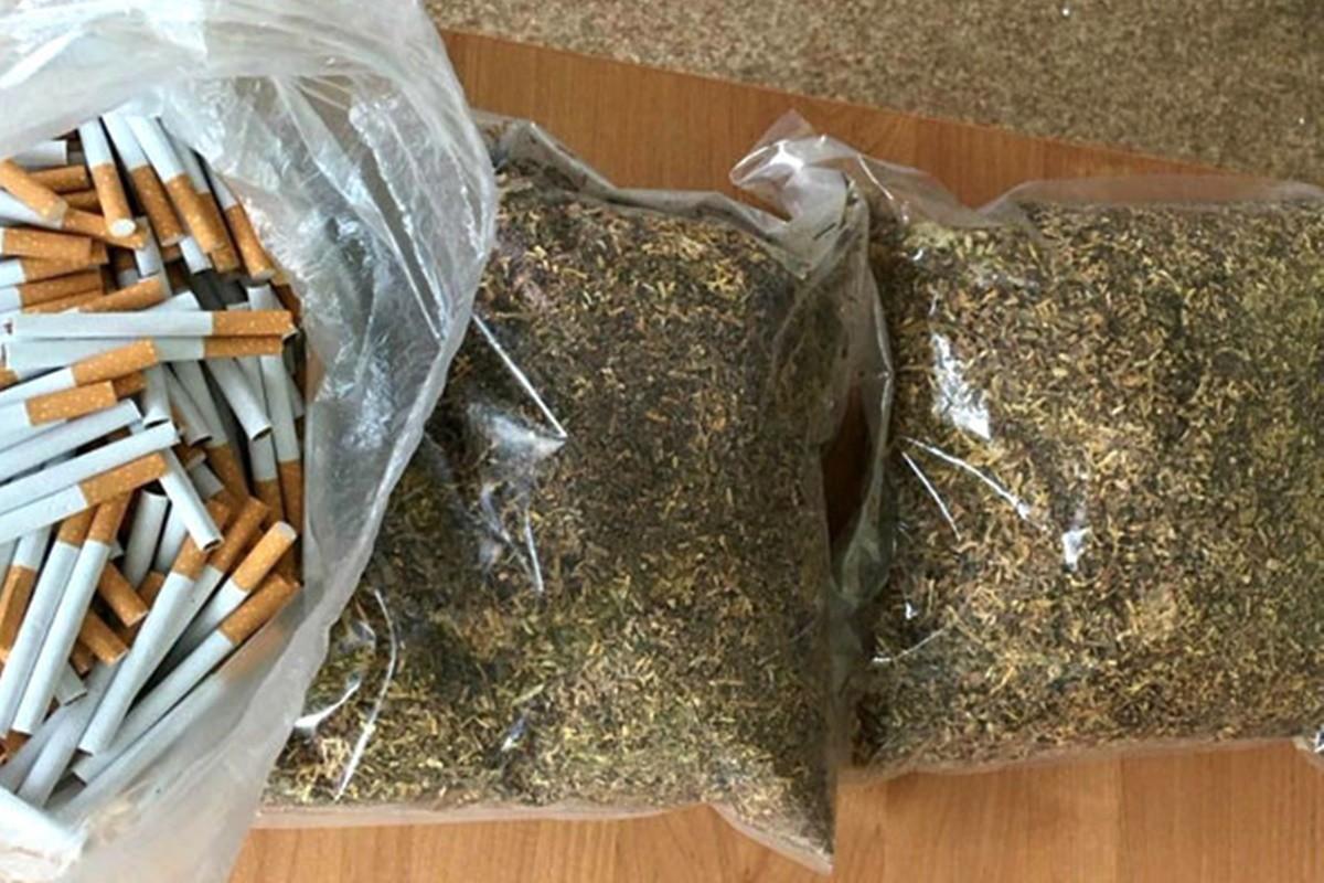 zabezpieczony tytoń i papierosy_kpp żnin