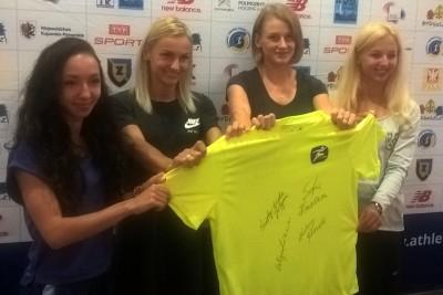 Karolina Kołeczek, Patrycja Wyciszkiewicz, Justyna Święty-Ersetic, Sofia Ennaoui - konferencja przed Bydgoszcz Cup 2018_ SF 1
