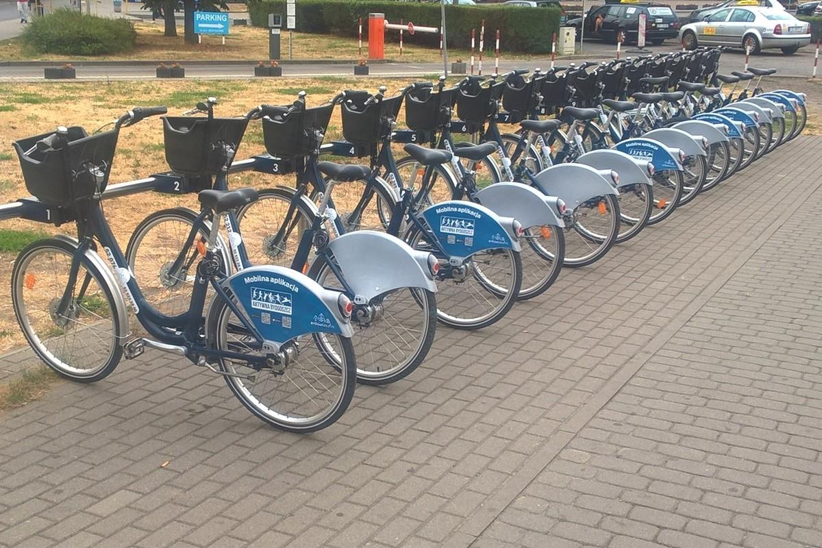 Bydgoski Rower Aglomeracyjny_ stacja 6 przy Dworcu Autobusowym_ SF