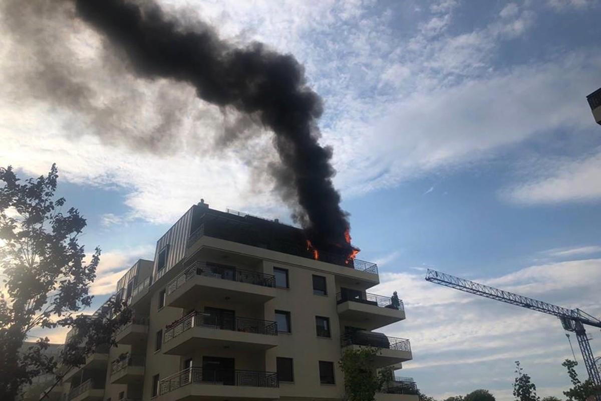 pożar bydgoszcz_ ul. pestalozziego_ nadesłane