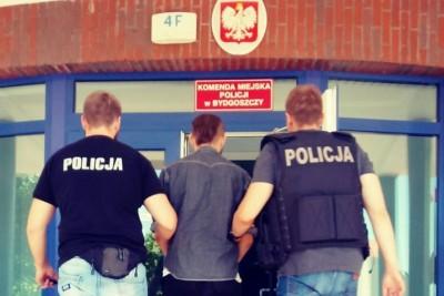policja, zatrzymany, wyżyny - kmp bydgoszcz