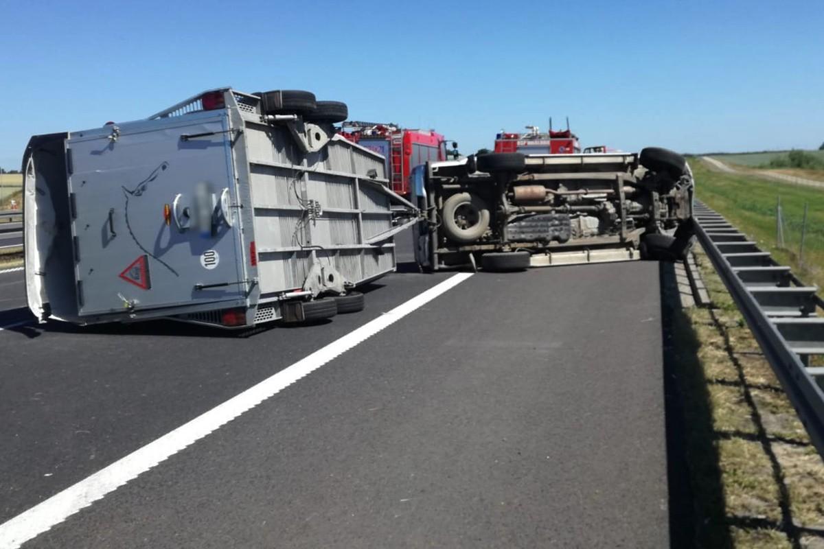 wypadek_ autostrada A1 Warlubie_ KPP Świecie