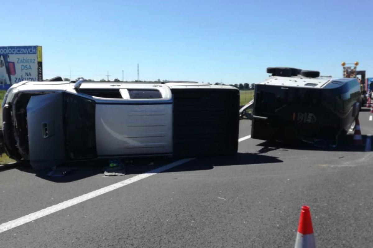 wypadek_ autostrada A1 Warlubie_ KPP Świecie1