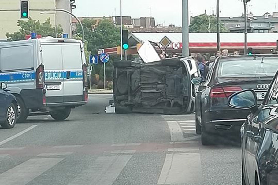 wypadek trasa Uniwersytecka Bydgoszcz