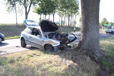 śmiertelny wypadek_ DK62 k. Kruszwicy_ KPP Inowrocław-2