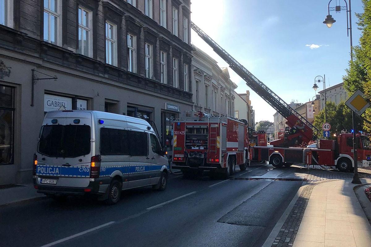 pożar Wełniany Rynek Bydgoszcz