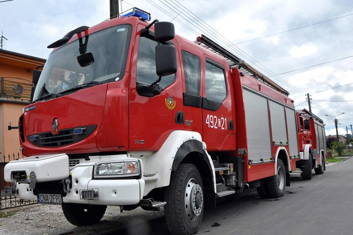 straż pożarna_ wóz - na sygnale_ Maciej Rejment