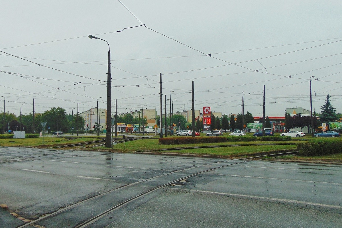 tramwaj kujawska szarych szeregów przed remontem bb 09