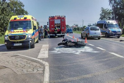 wypadek motocyklisty_ Kruszyn_ Krystian Andruszczenko