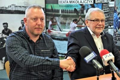 Krzysztof Bess (SP Zawisza), Waldemar Keister (CWZS Zawisza)_ porozumienie SP-CWZS_ SG
