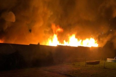 pożar budynku gospodarczego_ ul. bełzy - bydgoszcz_ nadesłane