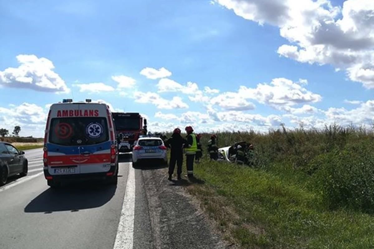 wypadek_ dk5 Gruczno (pow. świecki)_ nadesłane-1