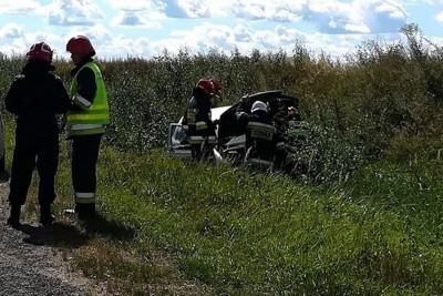 wypadek_ dk5 Gruczno (pow. świecki)_ nadesłane