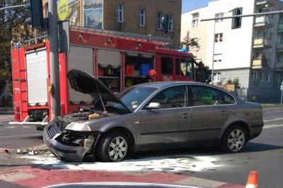 wypadek_skrzyżowanie Grunwaldzka-Kraszewskiego Bydgoszcz_ nadesłane