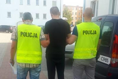 zatrzymany, policja, koronowo - kwp