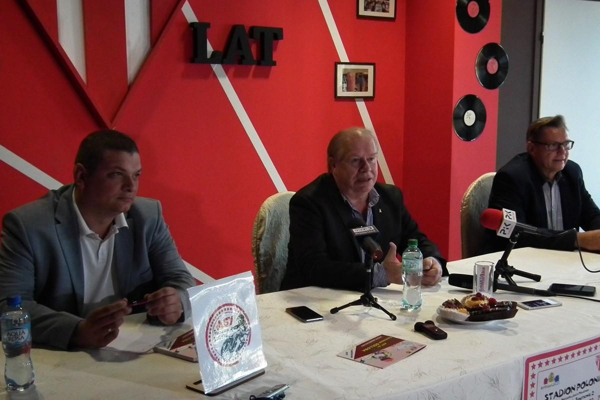 Łukasz Chojnacki, Jerzy Kanclerz, Jarosław Gamszej - konferencja Asy dla Golloba_ SG