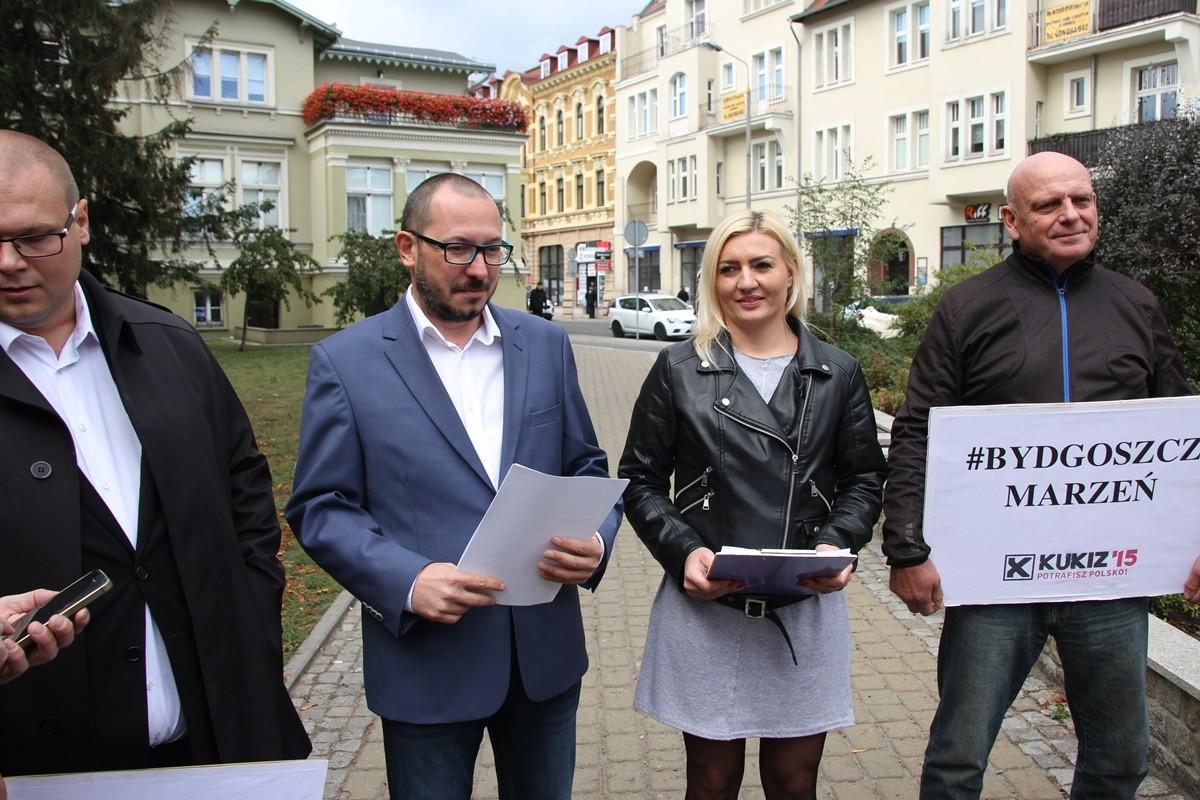 Krzysztof Drozdowski, Paweł Skutecki, Marta Żalińska, Maciej Borkowski - konferencja Kukiz'15 - SF