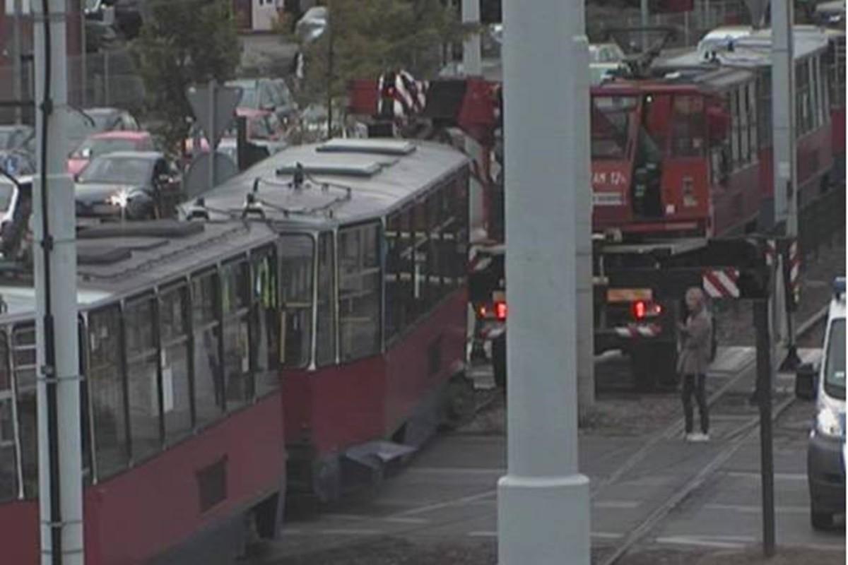 awaria tramwaju_ rondo Fordońskie Bydgoszcz_ ITS-1