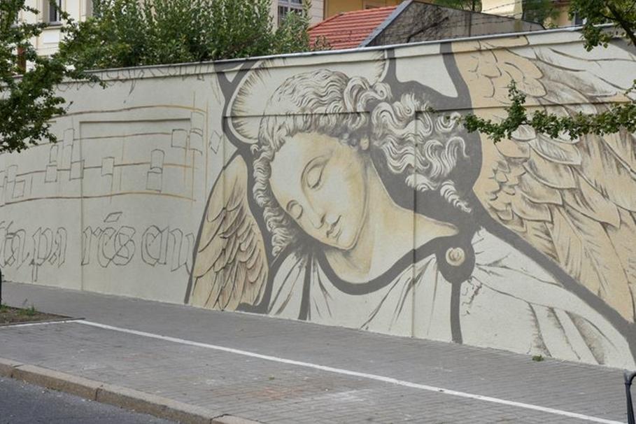 mural, anioł, 20 stycznia - umb
