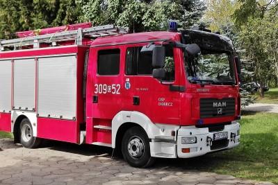 straż pożarna osp dobrcz wypadek BB