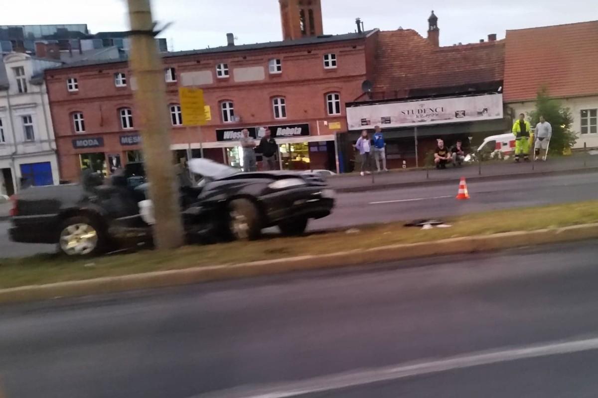 wypadek_ wały jagiellońskie bydgoszcz - SG