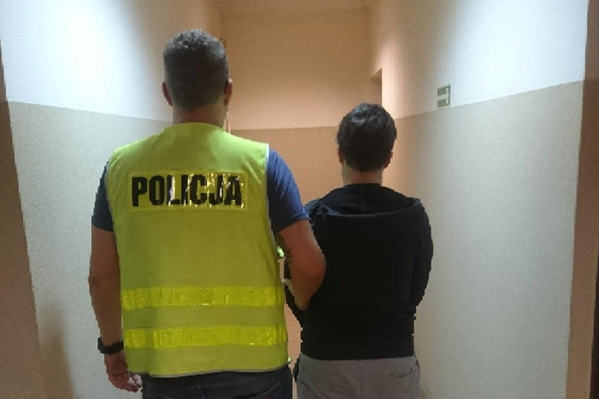 zatrzymanie kobiety_ podpalenie poszycia leśnego powiat nakielski_ KPP Nakło