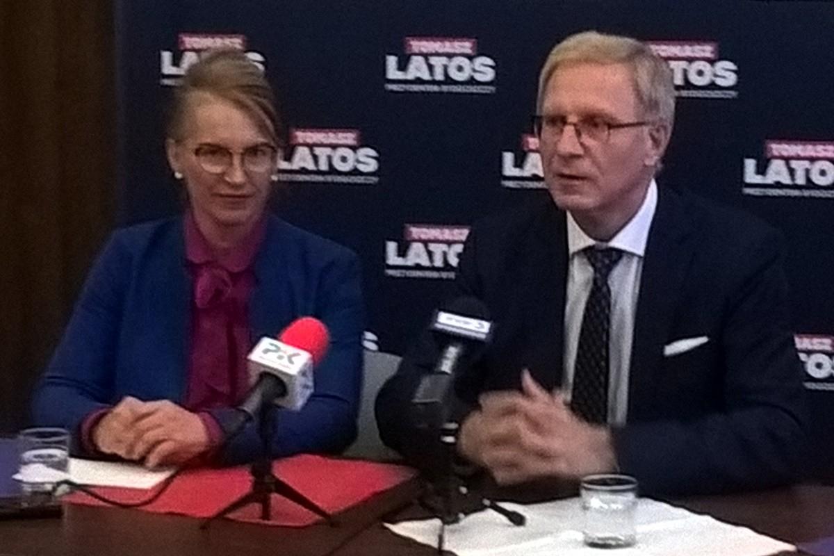 Grażyna Szabelska, Tomasz Latos - konferencja PiS Bydgoszcz_ SF