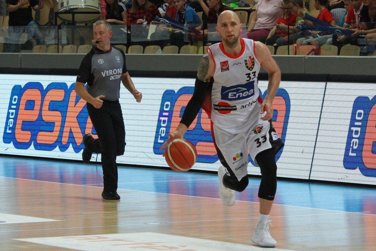 I liga koszykarzy_ Enea Astoria Bydgoszcz-AZS AGH Kraków_ Grzegorz Kukiełka_ SF