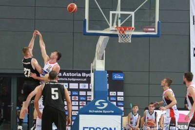 I liga koszykarzy_ Enea Astoria Bydgoszcz-AZS AGH Kraków_ Sadło, Frąckiewicz - SF