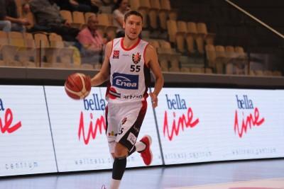 I liga koszykarzy_ Enea Astoria Bydgoszcz-Biofarm Basket Poznań_ Marcin Nowakowski - SF