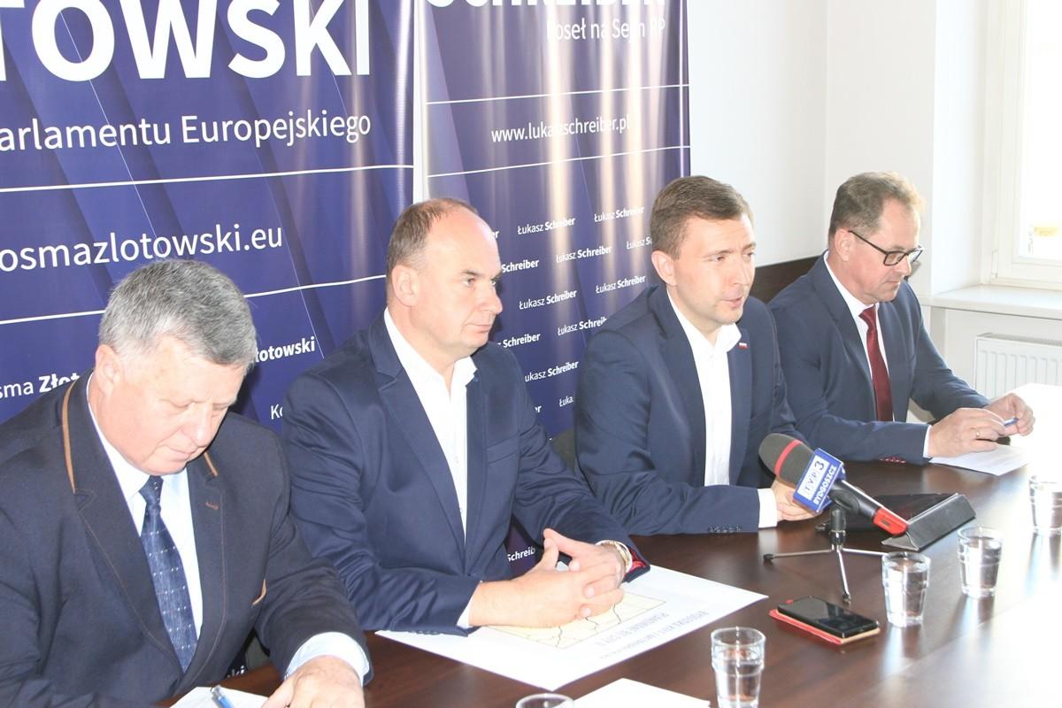 Marek Witkowski, Michał Krzemkowski, Łukasz Schreiber, Jerzy Gawęda - konferencja PiS Bydgoszcz_ SF