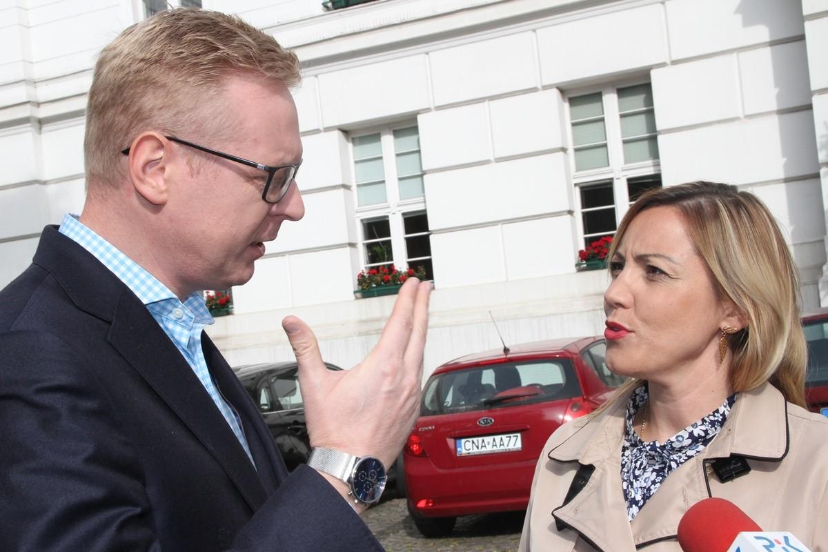 Michał Stasiński, Paulina Wenderlich - konferencja przed K-P UW_ SF