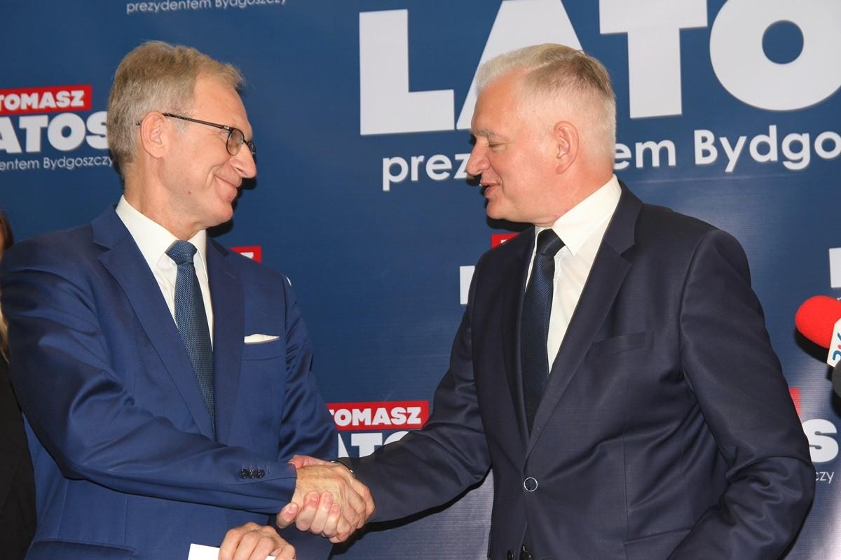 Tomasz Latos, Jarosław Gowin - konferencja w biurze PiS Bydgoszcz- SF1