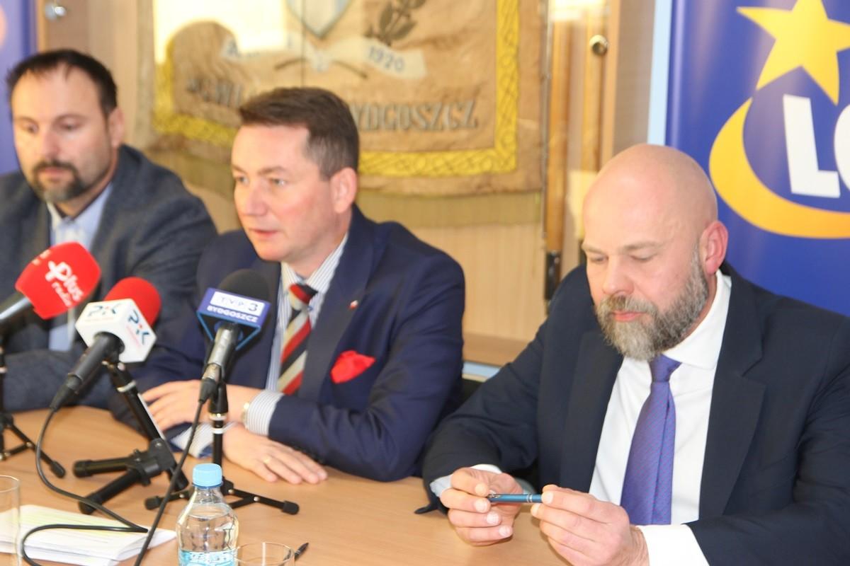 Zbigniew Leszczyński, Tomasz Rega, Robert Sikorski - konferencja Zooleszcz Gwiazdy Bydgoszcz_ SF