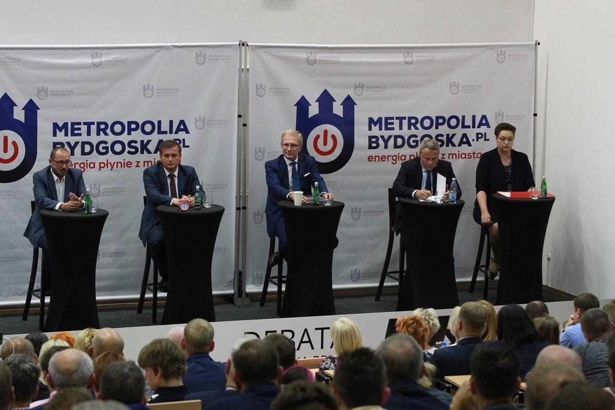 debata kandydatów na prezydenta Bydgoszczy- Paweł Skutecki, Marcin Sypniewski, Tomasz Latos, Rafał Bruski, Anna Mackiewicz- SF