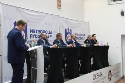 debata kandydatów na prezydenta Bydgoszczy - Paweł Skutecki, Marcin Sypniewski, Tomasz Latos, Rafał Bruski, Anna Mackiewicz_ SF