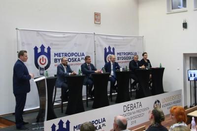 debata kandydatów na prezydenta Bydgoszczy_ Paweł Skutecki, Marcin Sypniewski, Tomasz Latos, Rafał Bruski, Anna Mackiewicz - SF