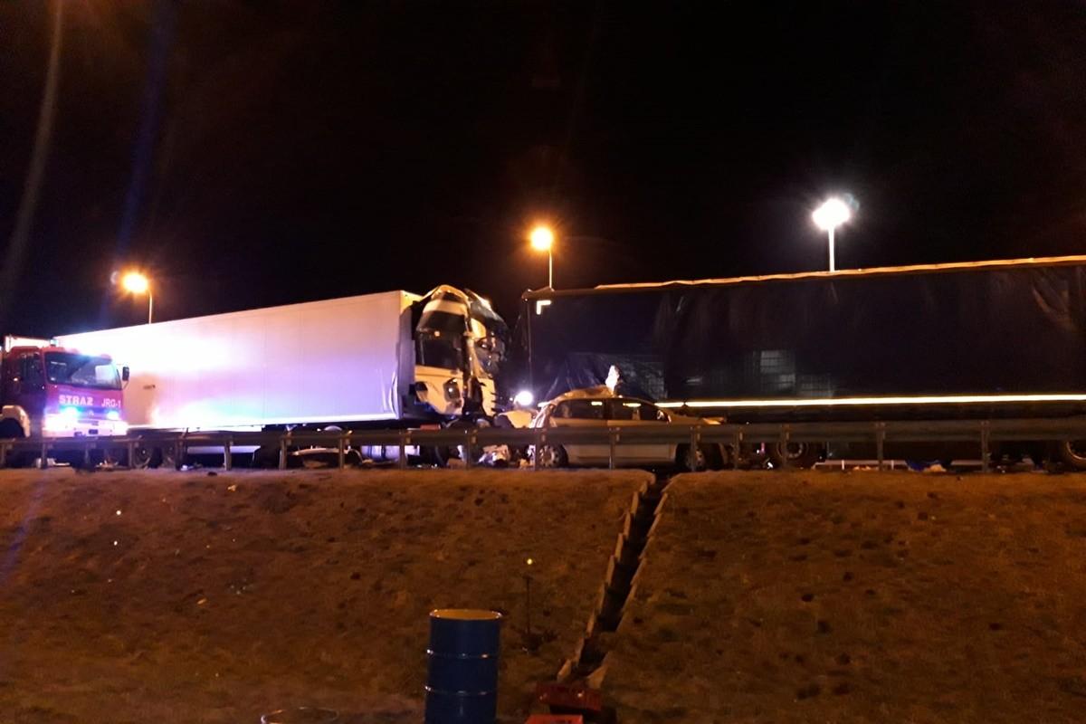 wypadek- autostrada A1_ KMP Toruń-3