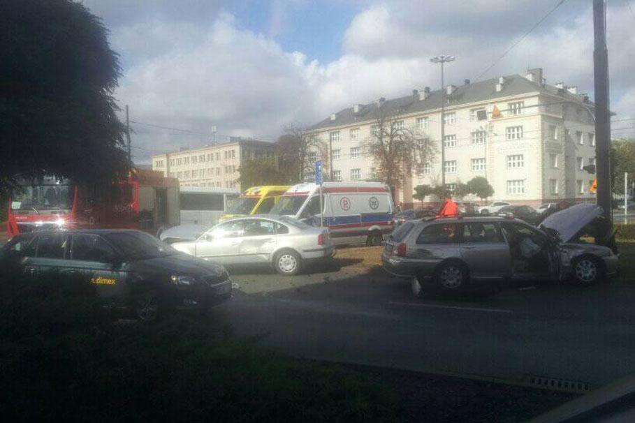 wypadek rondo Jagiellonów Bydgoszcz