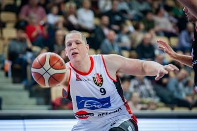 I liga koszykarzy_ Enea Astoria Bydgoszcz-WKK Wrocław_Jakub Dłuski- Ryszard Wszołek