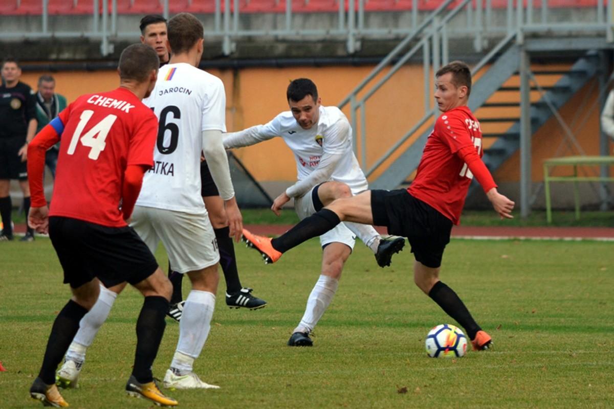 III liga piłki nożnej_ Jarota Jarocin-Chemik Moderator Bydgoszcz_ Dawid Borucki-jarota.com - nadesłane